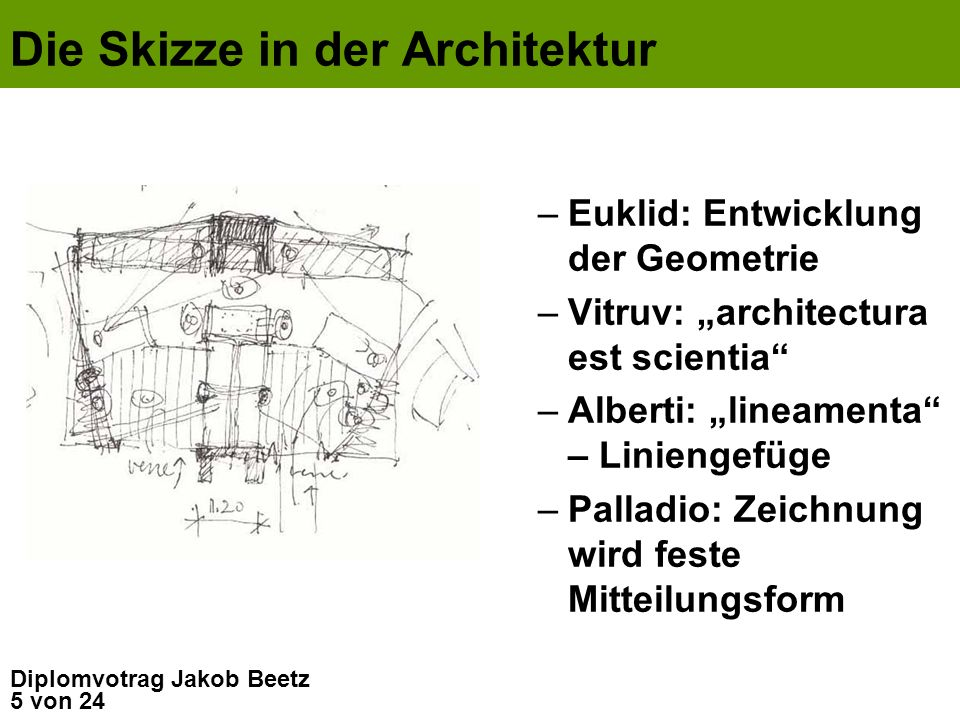 Die Skizze in der Architektur