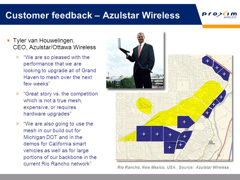 Customer feedback – Azulstar Wireless