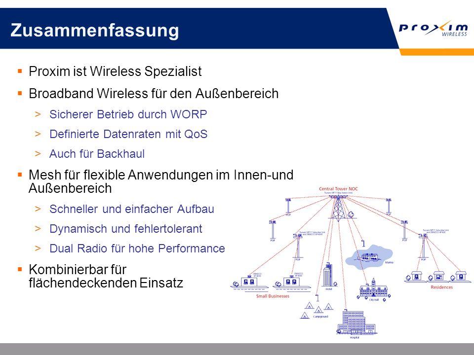 Zusammenfassung Proxim ist Wireless Spezialist