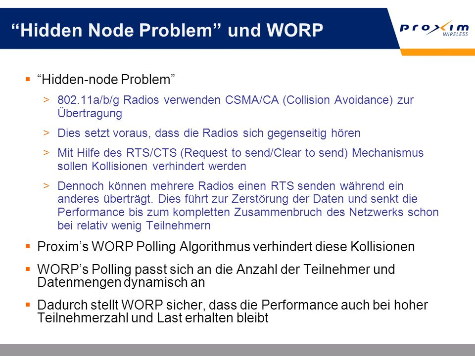 Hidden Node Problem und WORP