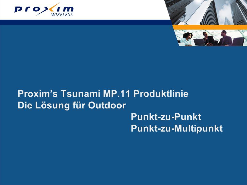 Proxim's Tsunami MP. 11 Produktlinie Die Lösung für Outdoor