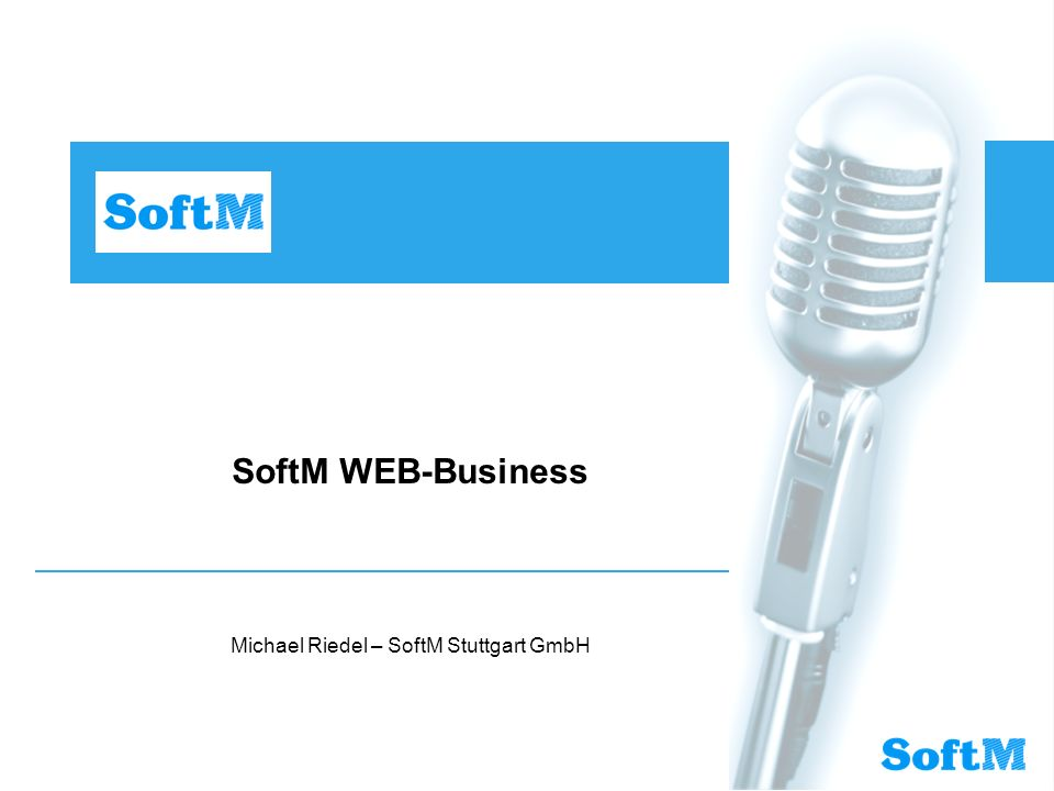 Michael Riedel – SoftM Stuttgart GmbH
