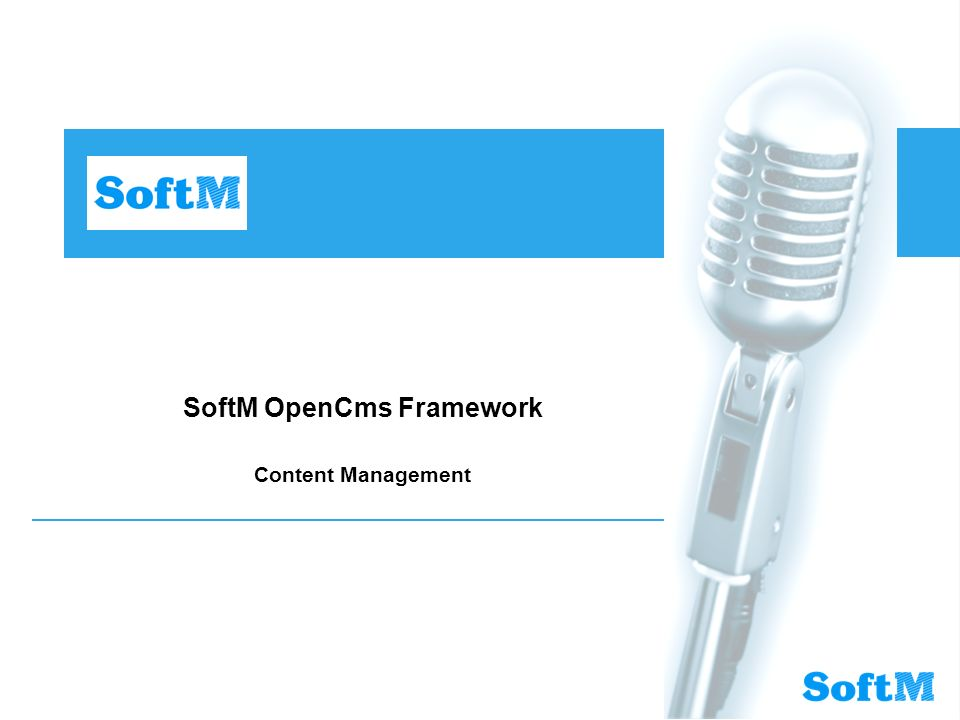 SoftM OpenCms Framework Content Management