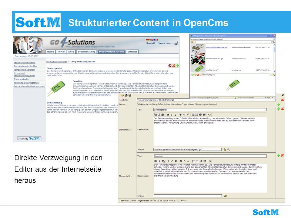 Strukturierter Content in OpenCms