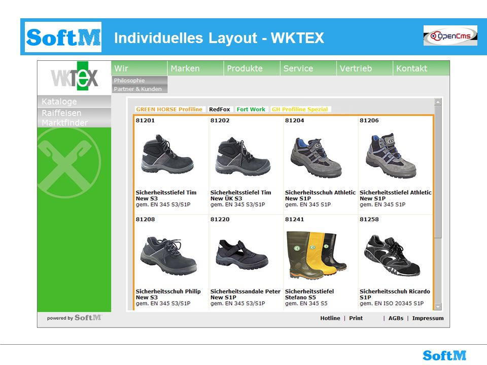 Individuelles Layout - WKTEX