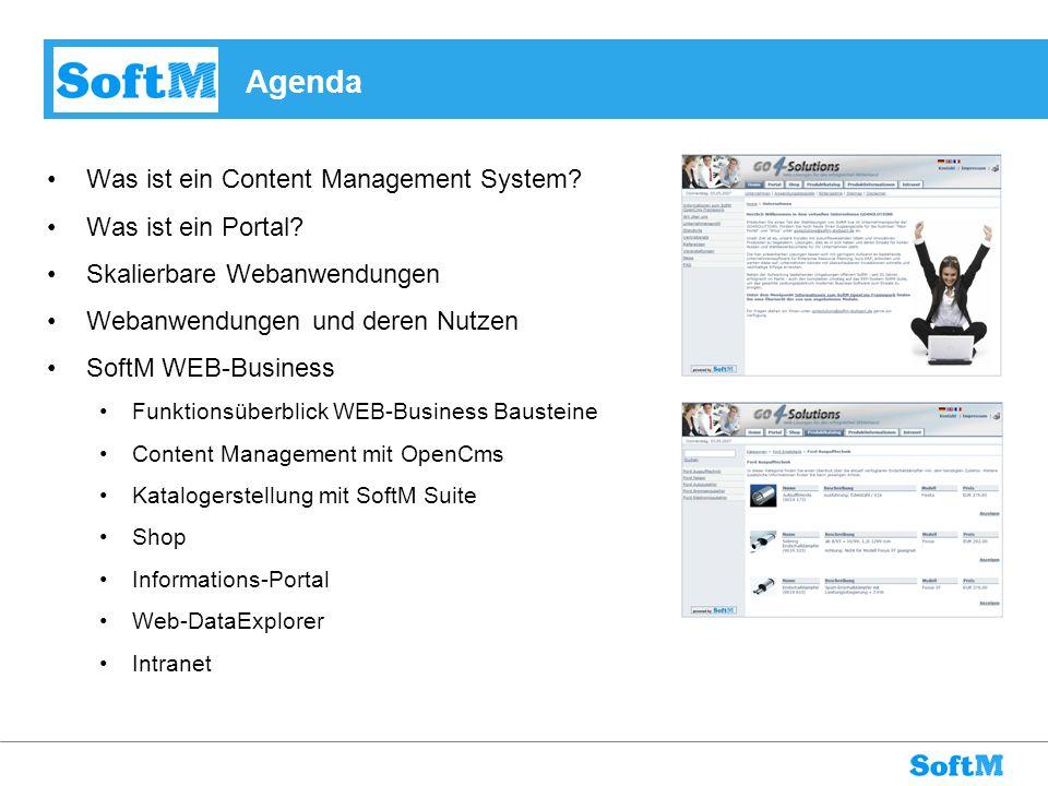 Agenda Was ist ein Content Management System Was ist ein Portal