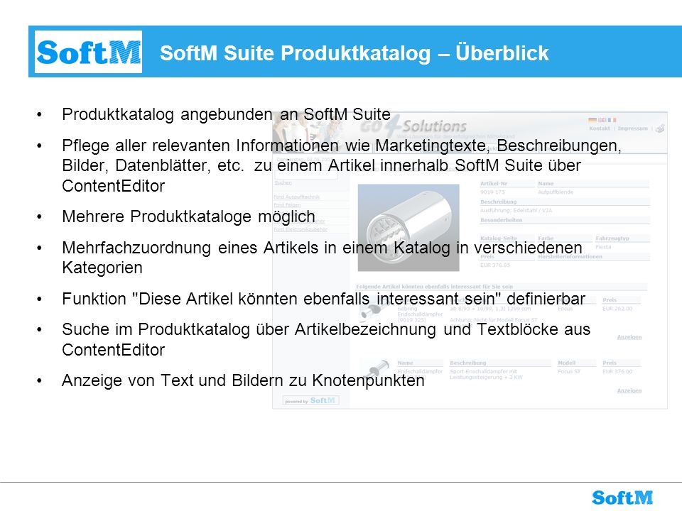 SoftM Suite Produktkatalog – Überblick
