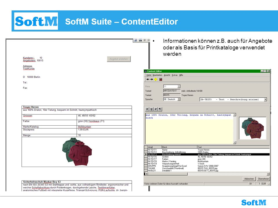 SoftM Suite – ContentEditor