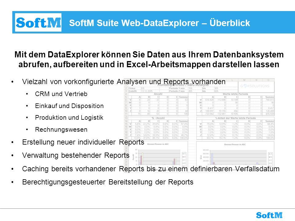 SoftM Suite Web-DataExplorer – Überblick