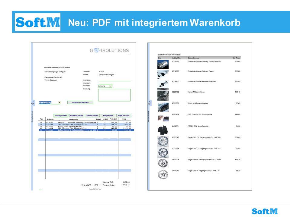 Neu: PDF mit integriertem Warenkorb