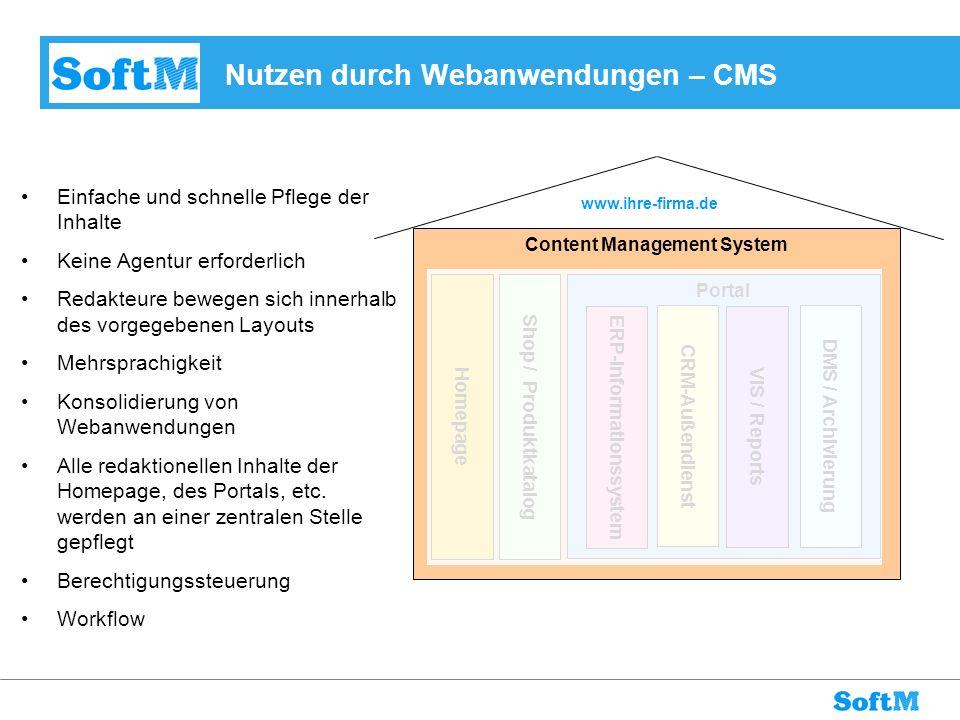 Nutzen durch Webanwendungen – CMS