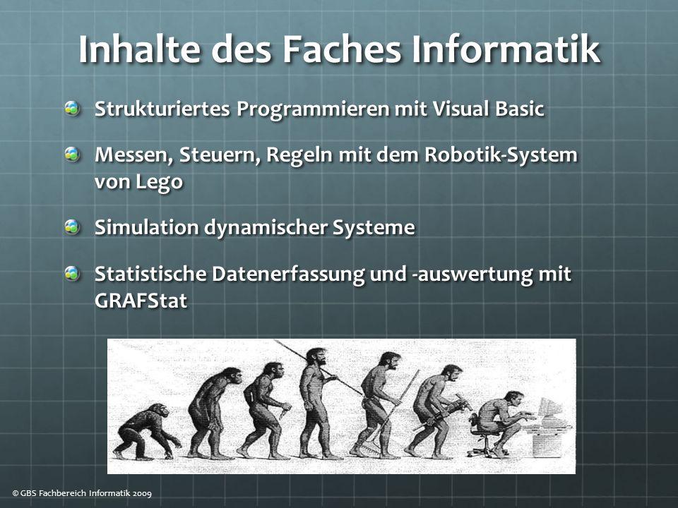 Inhalte des Faches Informatik
