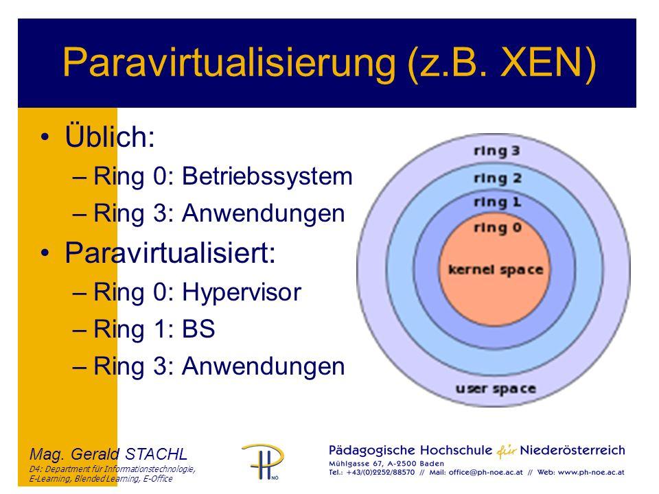 Paravirtualisierung (z.B. XEN)