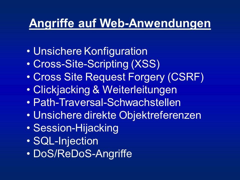 Angriffe auf Web-Anwendungen