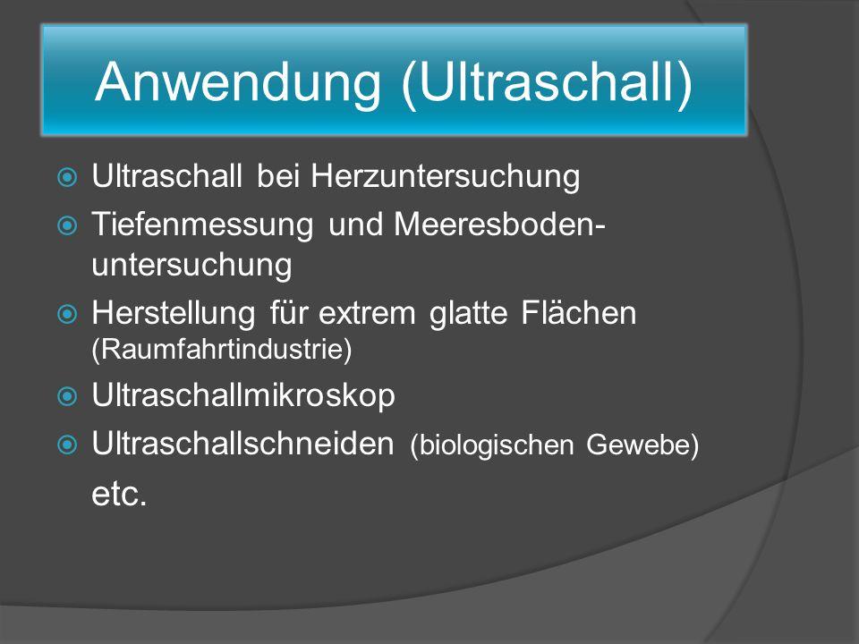 Anwendung (Ultraschall)