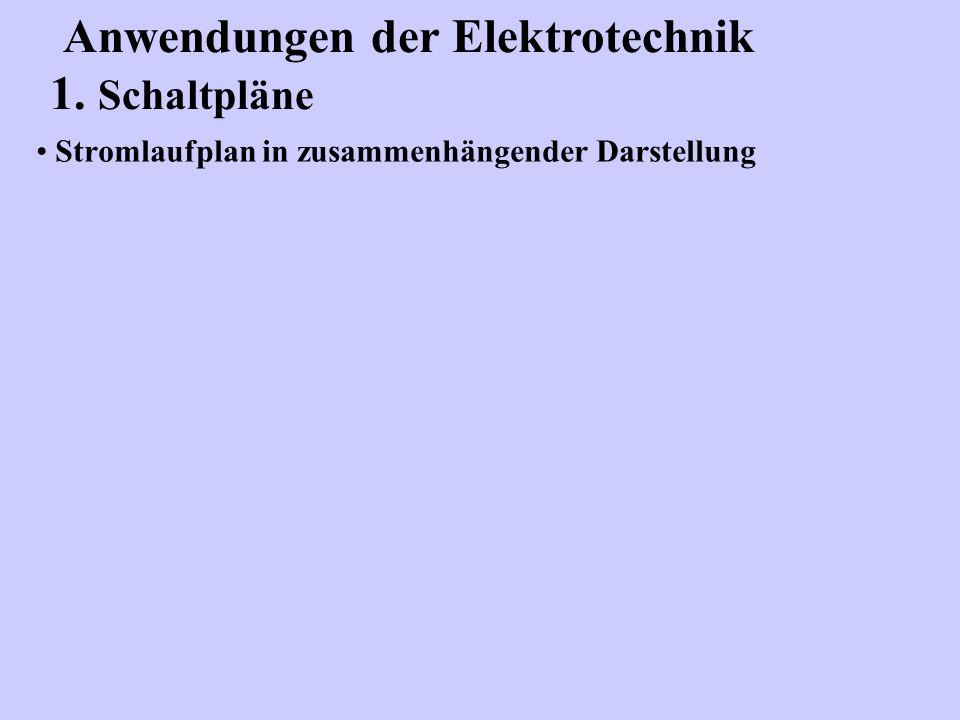 Stromlaufplan in zusammenhängender Darstellung
