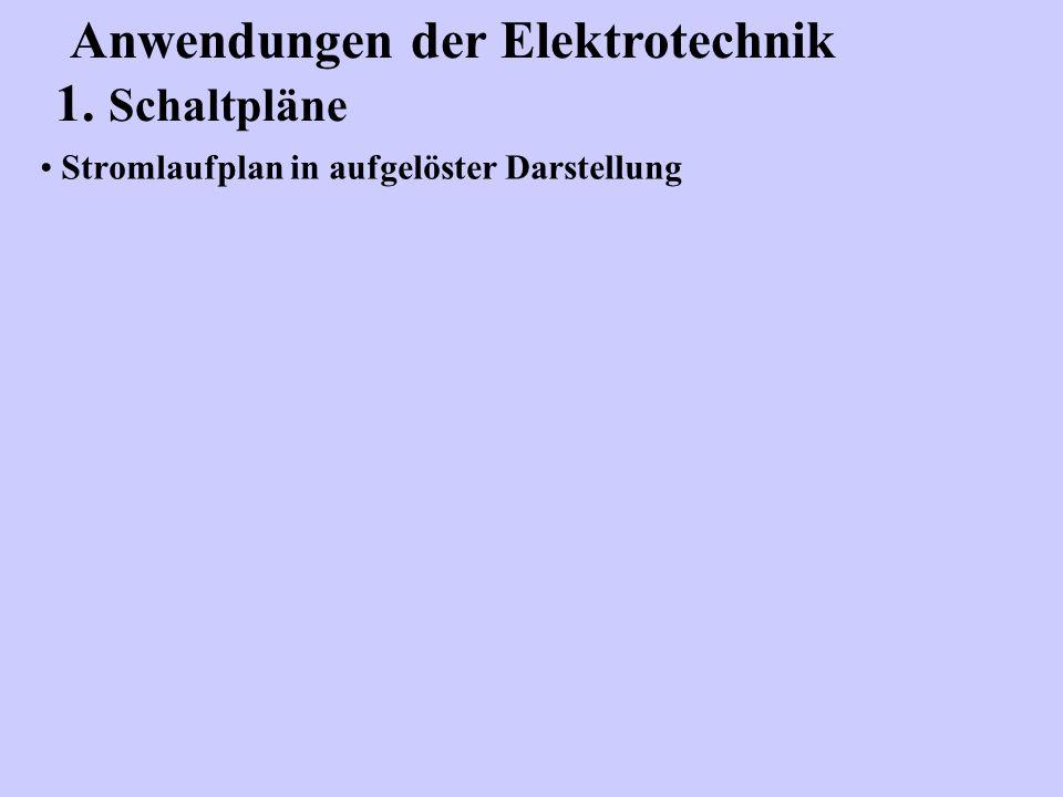 Stromlaufplan in aufgelöster Darstellung