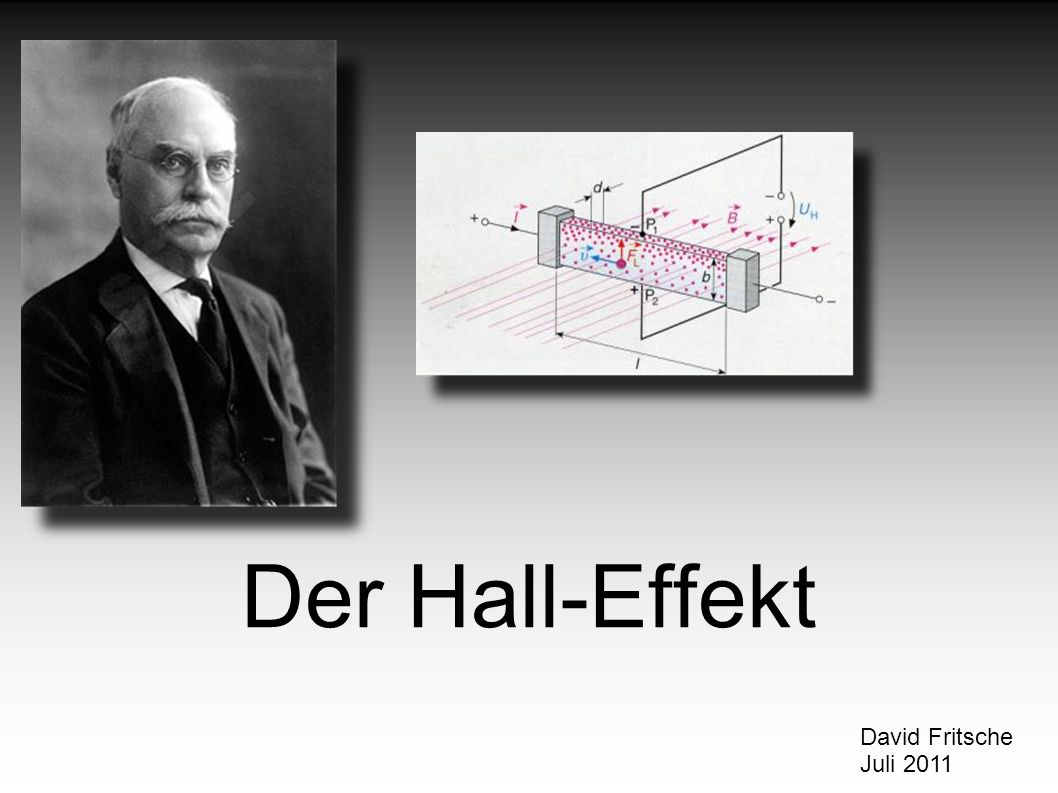 Der Hall-Effekt David Fritsche Juli 2011