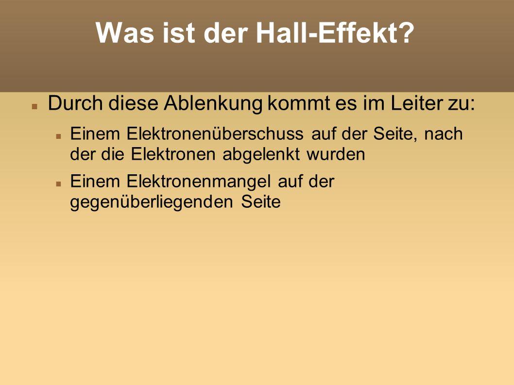 Was ist der Hall-Effekt