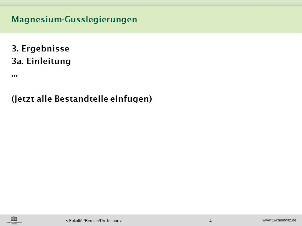 Magnesium-Gusslegierungen