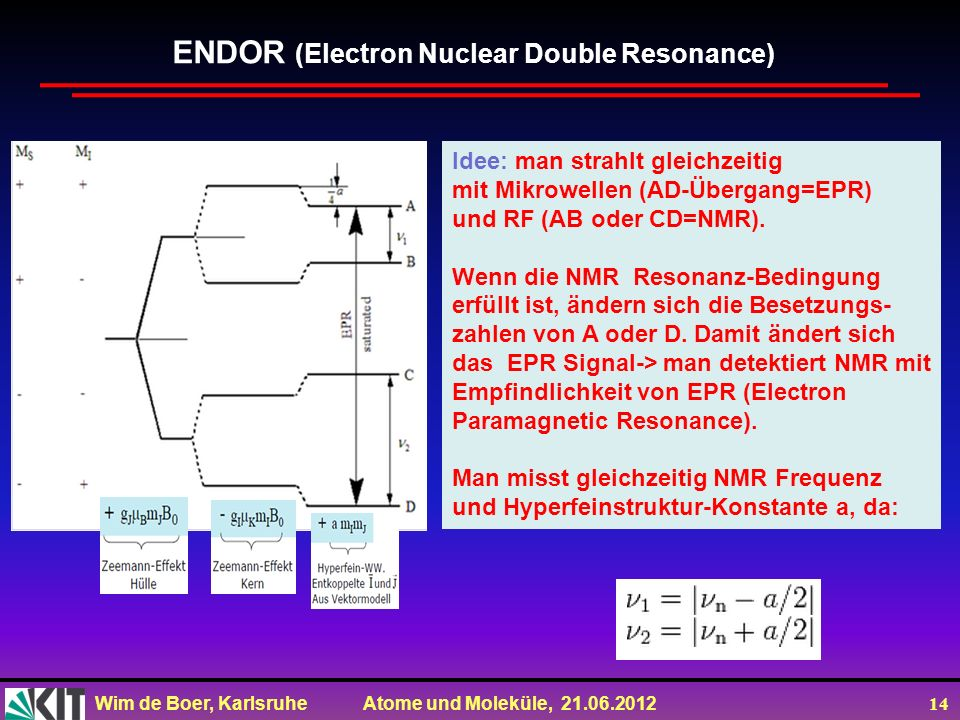 ENDOR (Electron Nuclear Double Resonance)