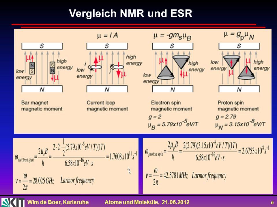 Vergleich NMR und ESR