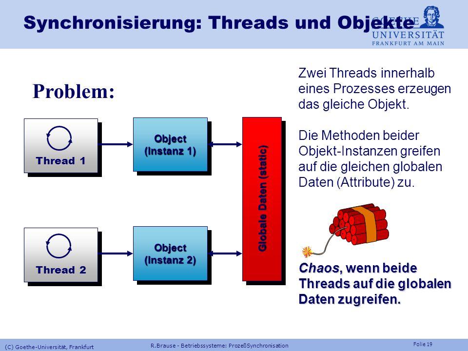 Synchronisierung: Threads und Objekte