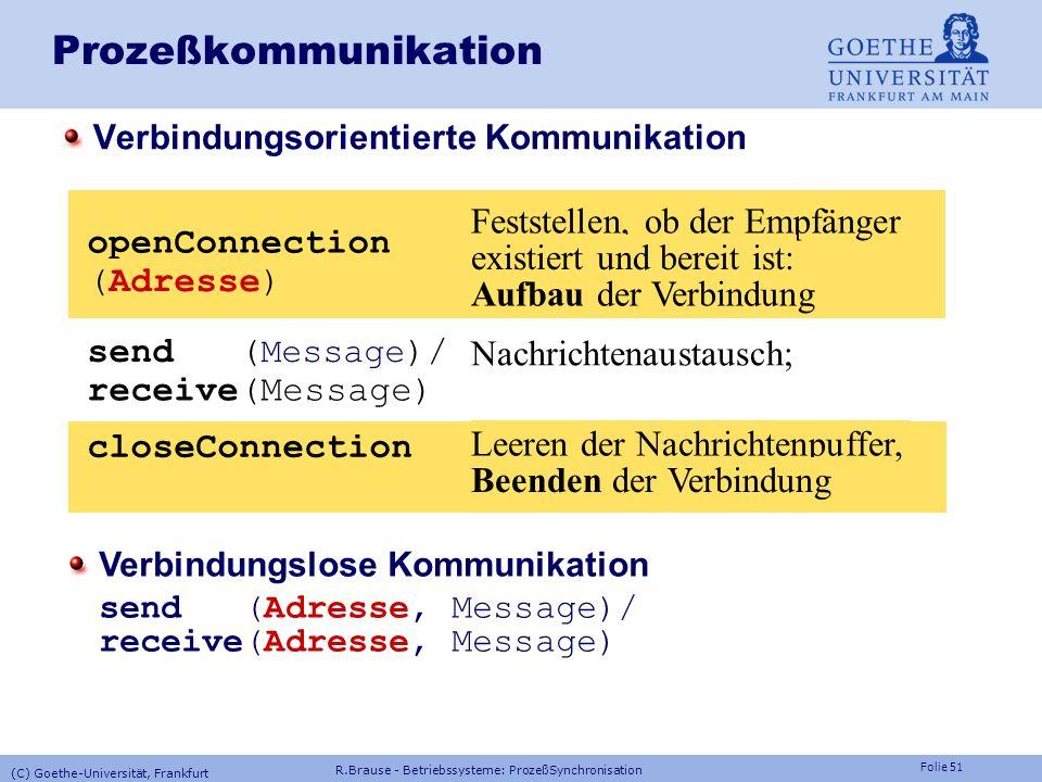 Prozeßkommunikation openConnection (Adresse)