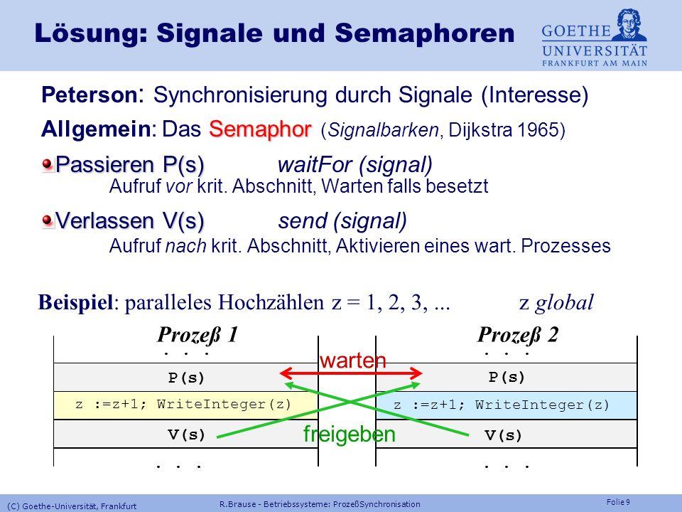 Lösung: Signale und Semaphoren