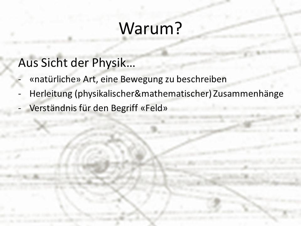 Warum Aus Sicht der Physik…