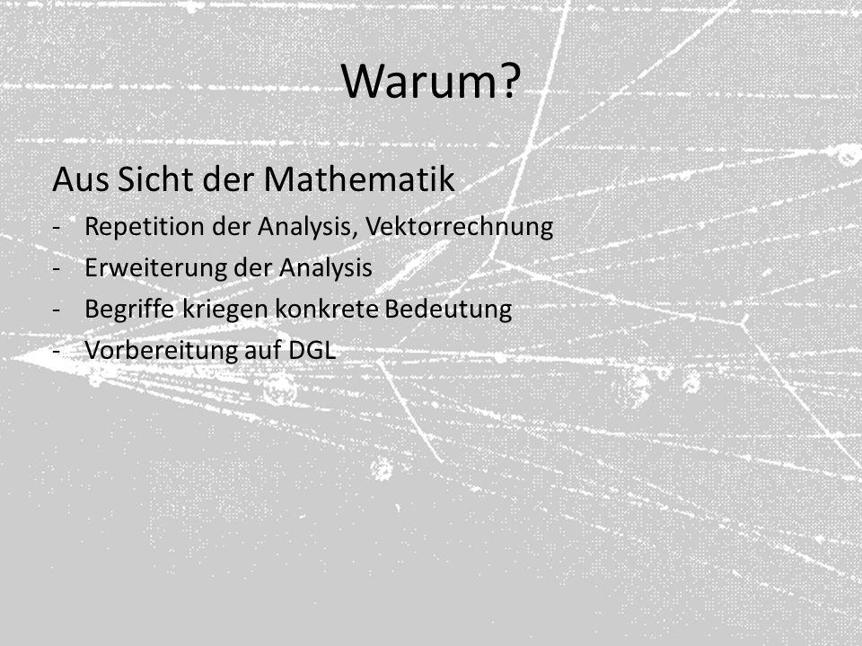 Warum Aus Sicht der Mathematik