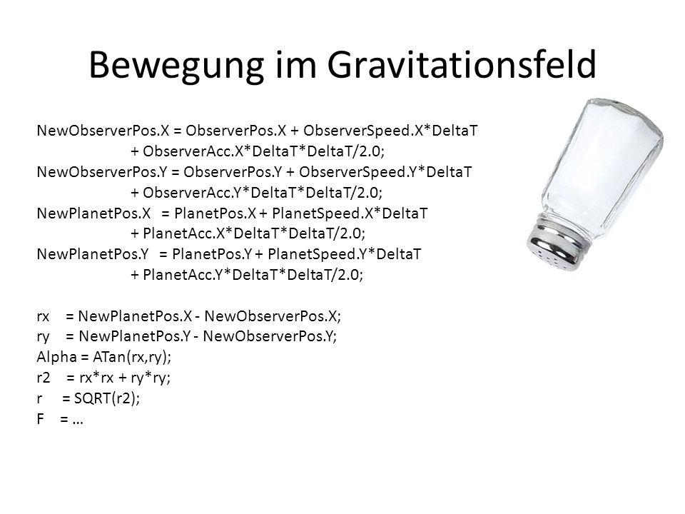 Bewegung im Gravitationsfeld