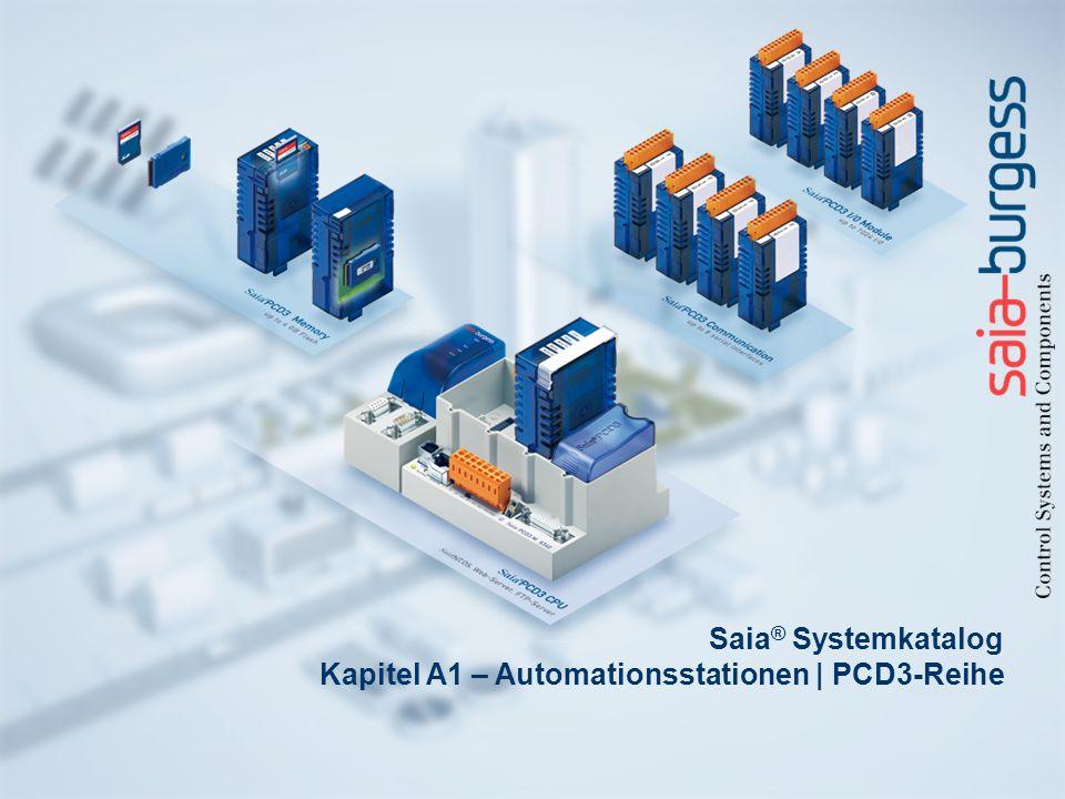 Saia® Systemkatalog Kapitel A1 – Automationsstationen | PCD3-Reihe