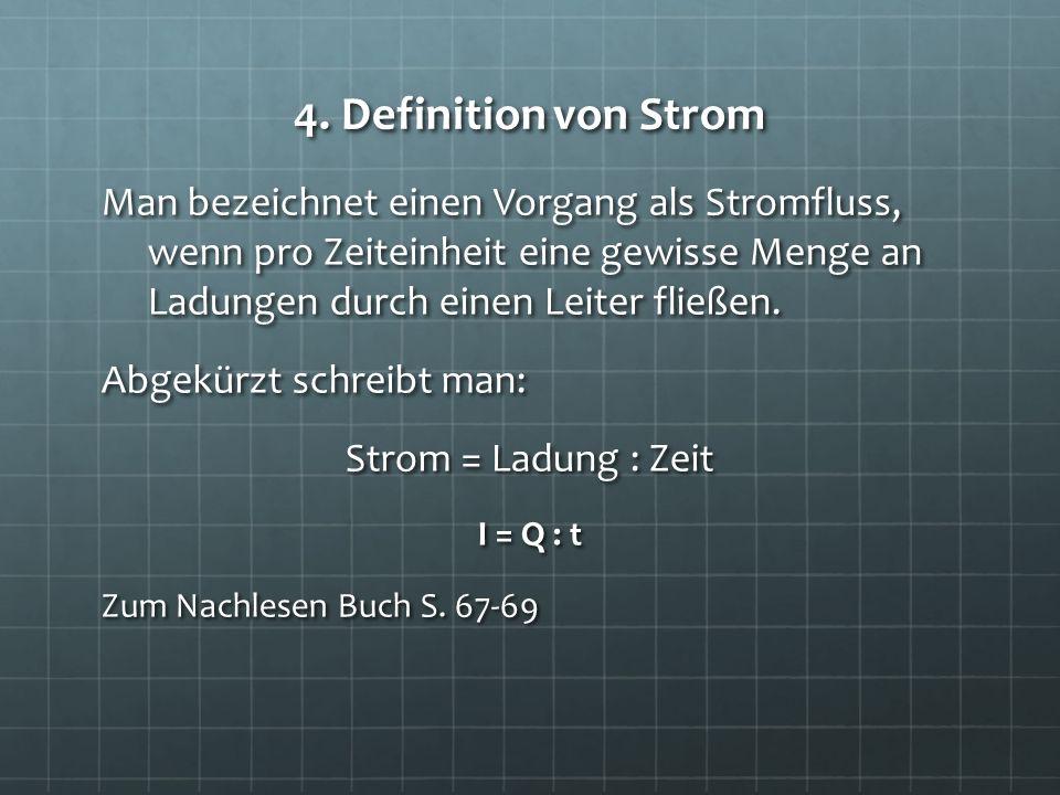 4. Definition von Strom