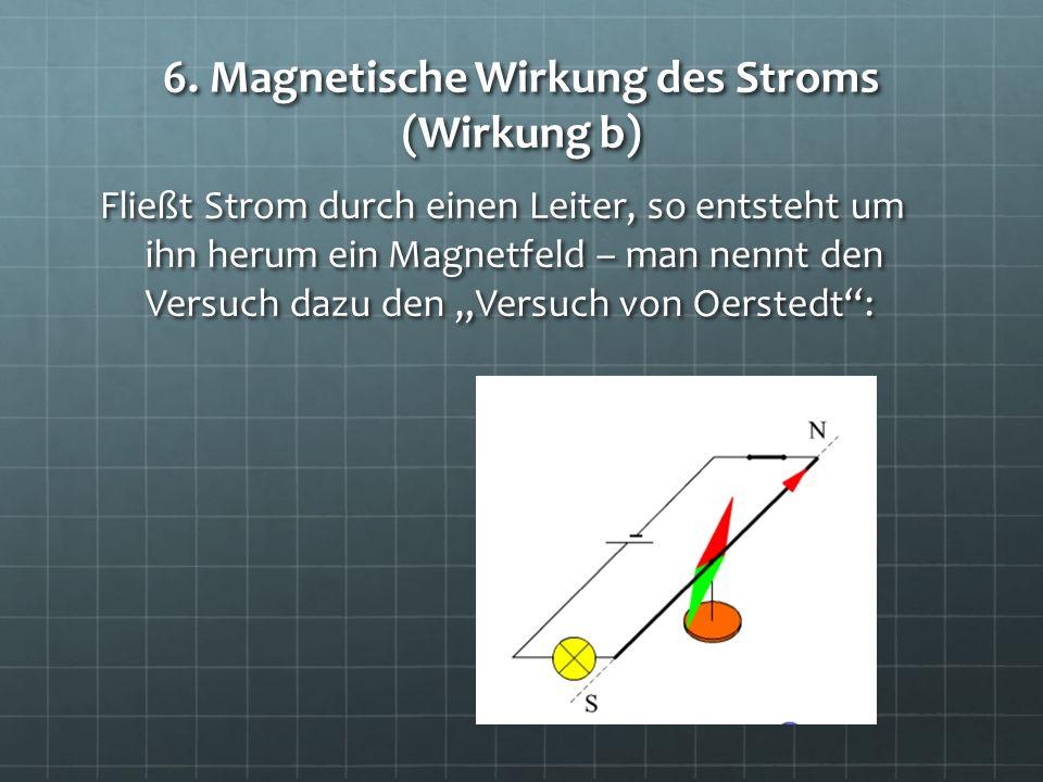 6. Magnetische Wirkung des Stroms (Wirkung b)