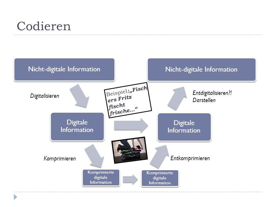 Codieren Nicht-digitale Information Nicht-digitale Information