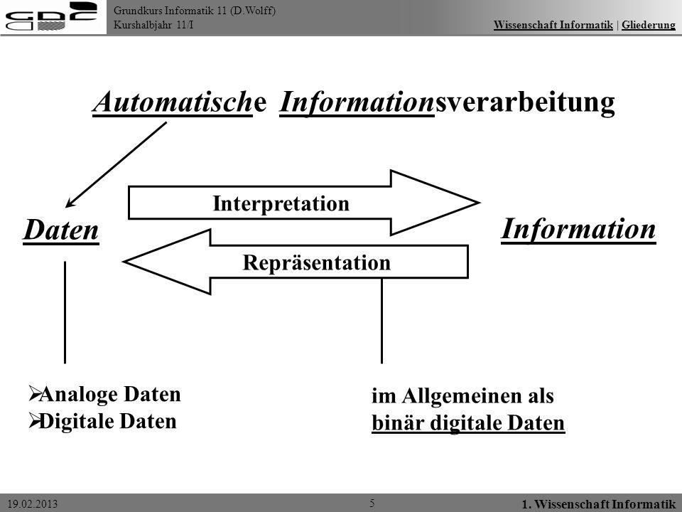 Automatische Informationsverarbeitung