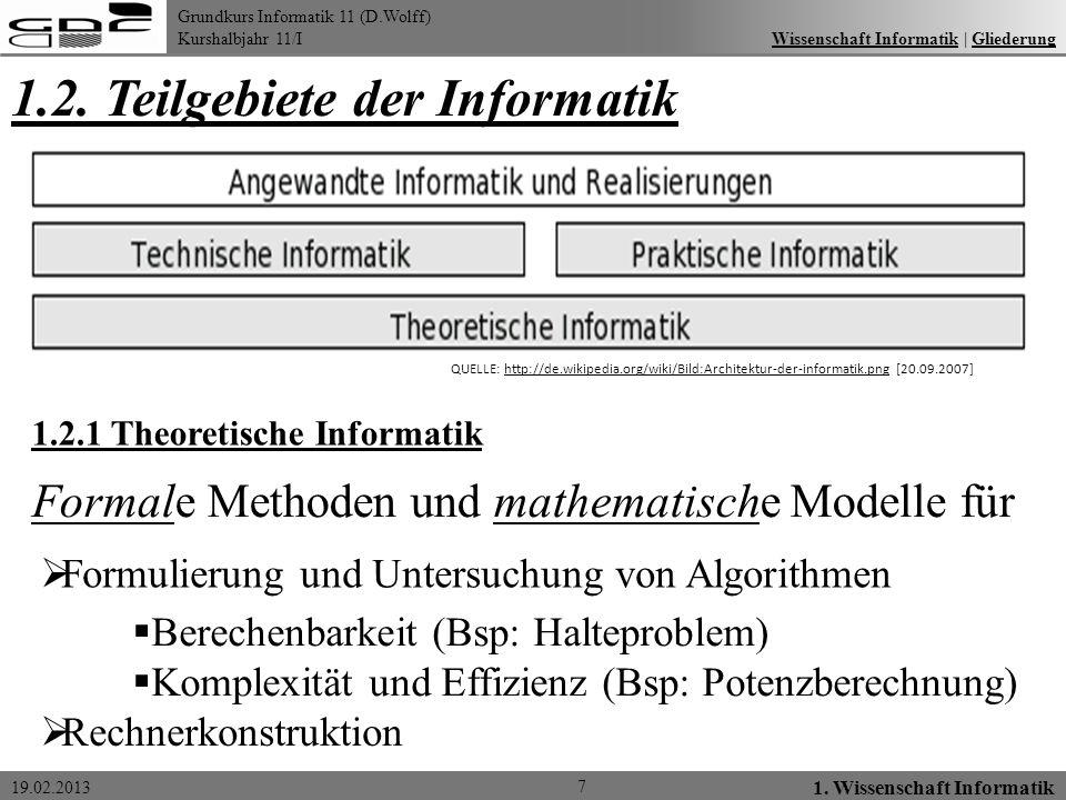 1.2. Teilgebiete der Informatik