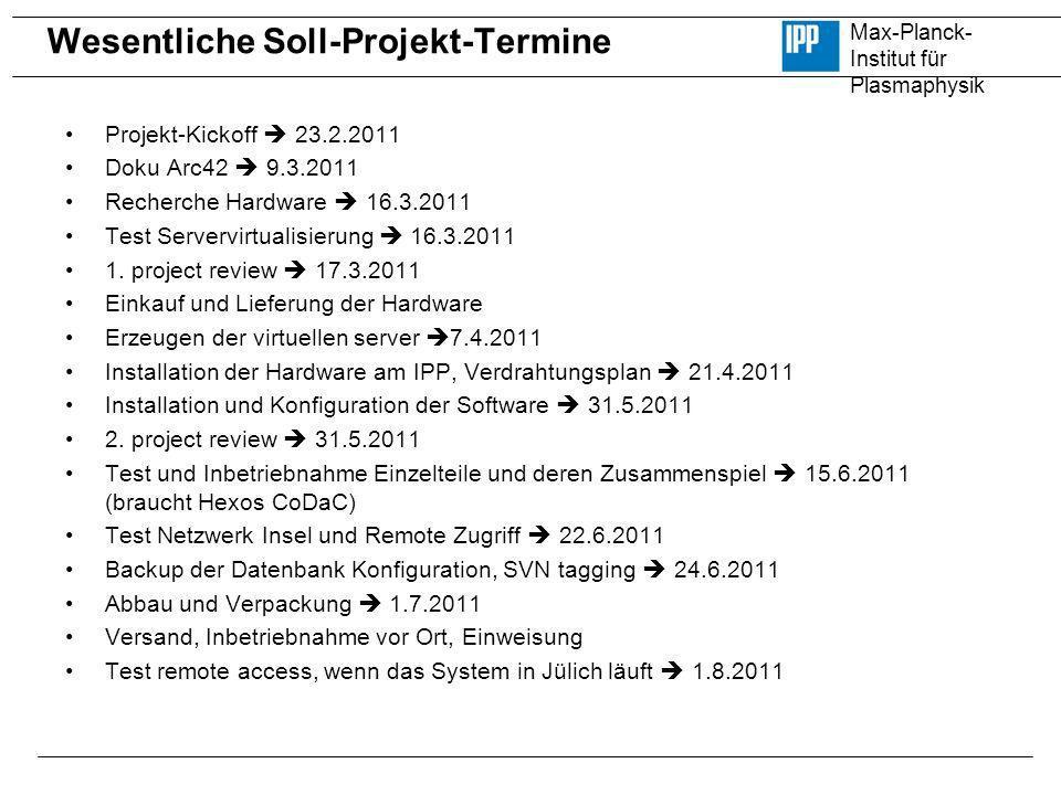 Wesentliche Soll-Projekt-Termine