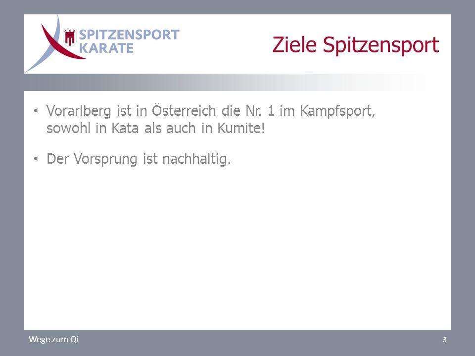 Ziele Spitzensport Vorarlberg ist in Österreich die Nr. 1 im Kampfsport, sowohl in Kata als auch in Kumite!