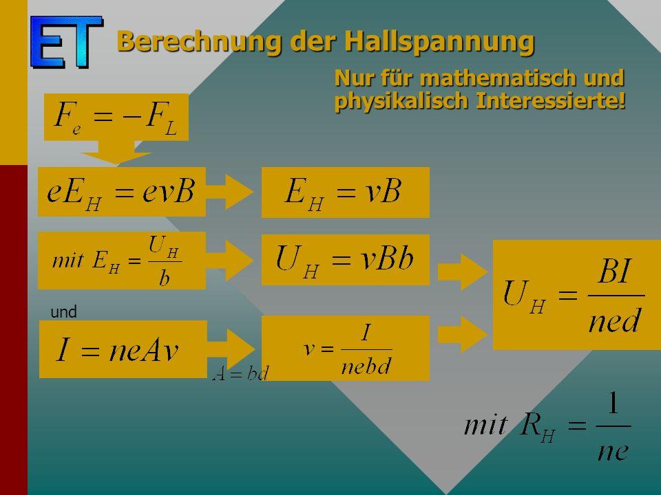 Berechnung der Hallspannung