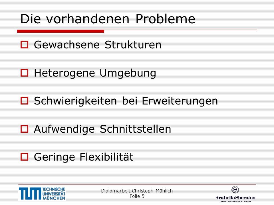 Die vorhandenen Probleme
