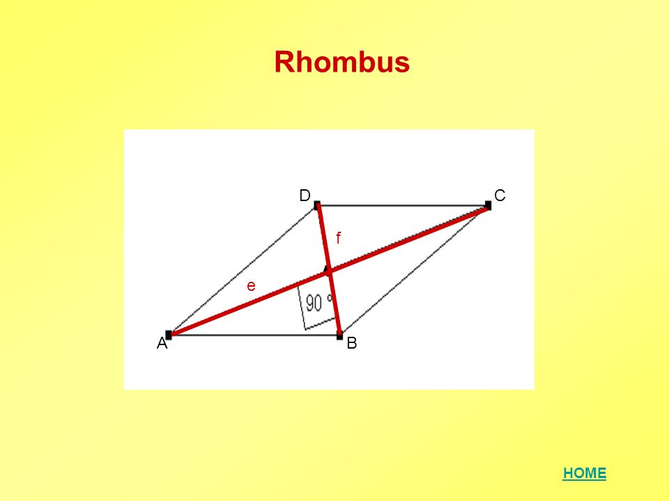 Rhombus D C f e A B