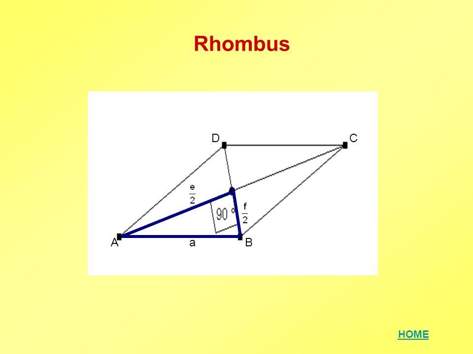 Rhombus D C A a B