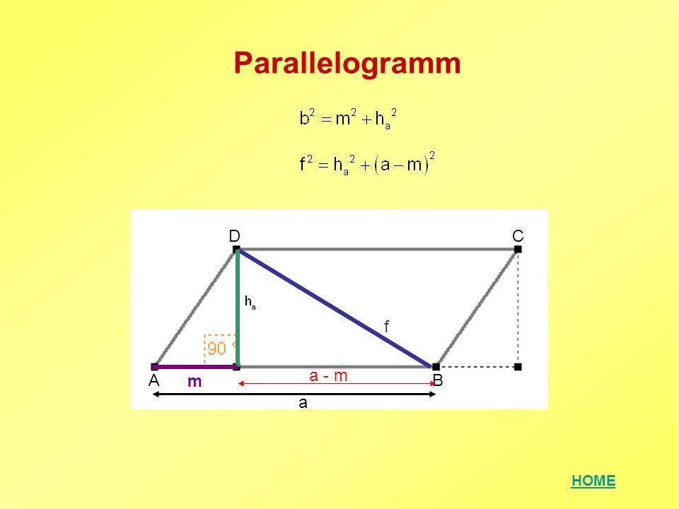 Parallelogramm D C f a - m A m B a
