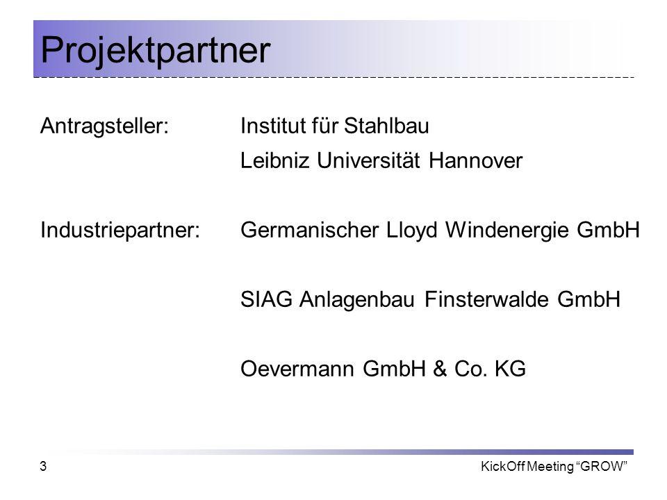 Projektpartner Antragsteller: Institut für Stahlbau