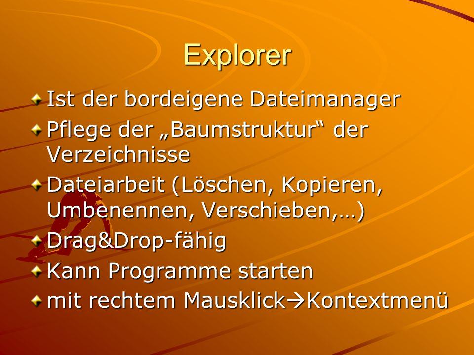 Explorer Ist der bordeigene Dateimanager