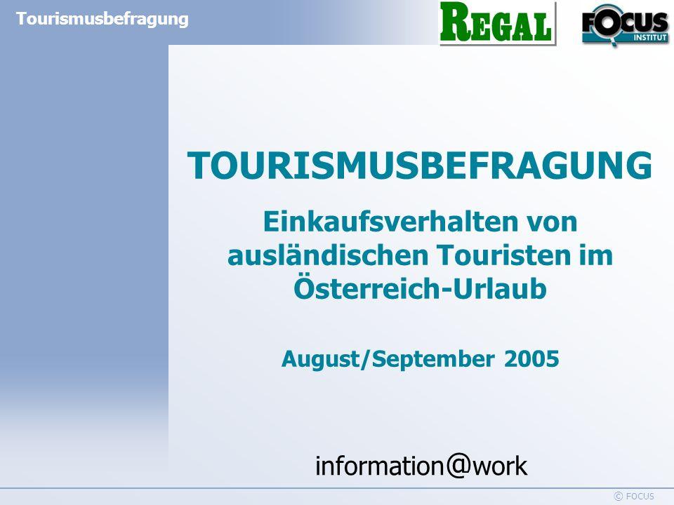 Einkaufsverhalten von ausländischen Touristen im Österreich-Urlaub