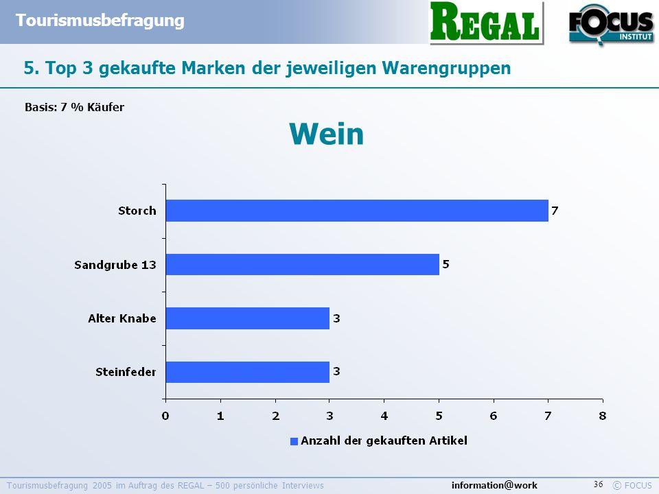 5. Top 3 gekaufte Marken der jeweiligen Warengruppen