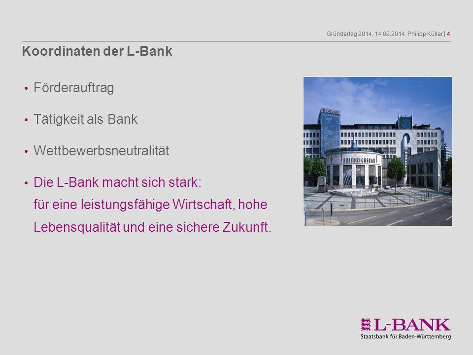 Koordinaten der L-Bank
